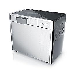 Arendo Edelstahl Brotbackautomat | vollautomatische Brotbackmaschine | 12 Backprogramme | Warmhalte- & Knetfunktion/Timer