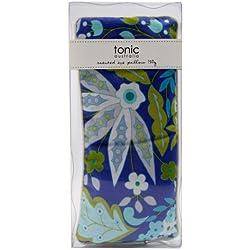 Tonic Birdy - Almohadilla relajante para ojos con aroma, diseño de flores, color azul