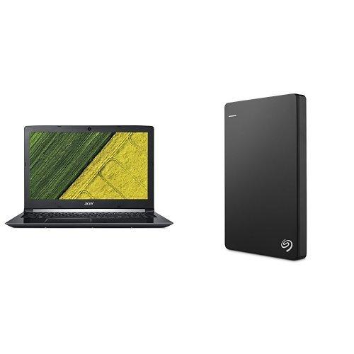 Acer Aspire 5 15.6-Inch Notebook (Intel Core i7-8550U, 8 GB RAM, 256 GB SSD, Intel UHD Graphics 620, Windows 10 Home) + 2TB Seagate Backup Plus Slim External Hard Drive