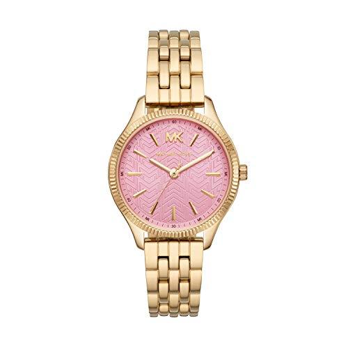 Michael Kors Damen Analog Quarz Uhr mit Edelstahl Armband MK6640