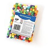 iLP Pompons Filz-Kugeln Bommel - Mehrfarbig - Riesen-Bastel-Spaß für Kinder und Erwachsene Dekorieren Verzieren Nähen DIY Party - Ø ca. 0,4 Zoll 10 mm
