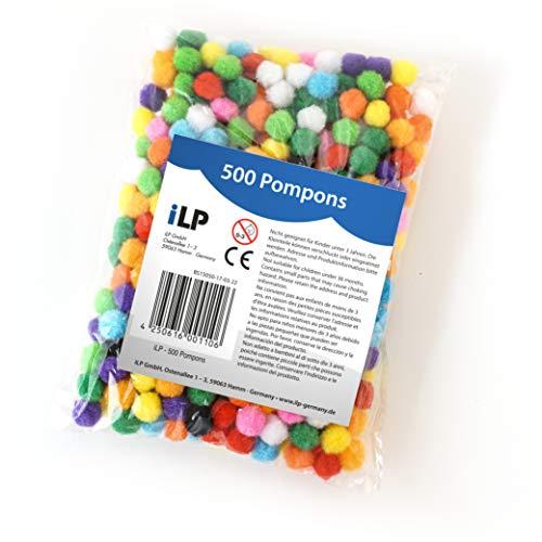 iLP Pompons Filz-Kugeln Bommel - Mehrfarbig - Riesen-Bastel-Spaß für Kinder und Erwachsene Dekorieren Verzieren Nähen DIY Party - Ø ca. 0,4 Zoll 10 ()