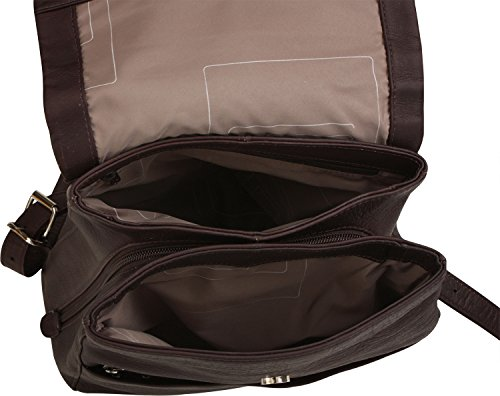Harold's City-Rucksack aus Leder Country schwarz 3 braun