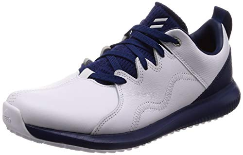 adidas Golf da Uomo 2019 Adicross Ppf Scarpe da Golf - Bianco/Blu Scuro, 9 UK