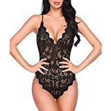 MERICAL Fashion Damen Dessous One Piece Babydoll Mini Body Sexy Dessous Unterwäsche(Schwarz,L)