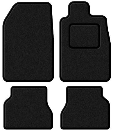 Jeep Grand Cherokee 1999-2004 Custom Fit Taliored Car Mats Set Deluxe Quality Black Carpet with Black