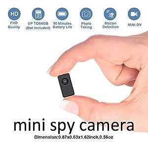 grabadoras ocultas: Cámara espía Oculta Mini grabadora DVR de Uso Corporal, tamaño pequeño, 1080P co...