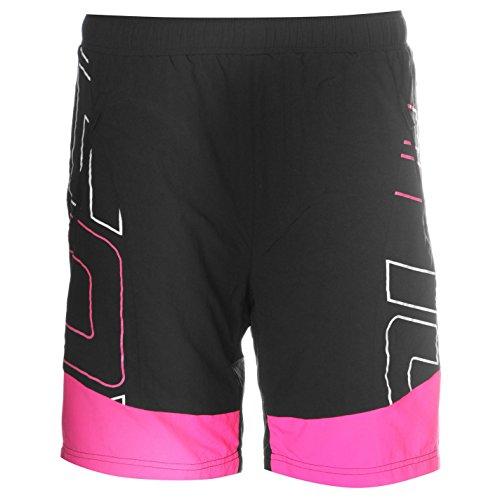 Muddyfox Urban Damen Radlershorts Fahrrad Kurze Hose Radsport Radhose Black/Pink 12 (M)