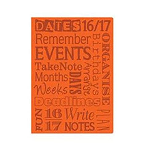 New 2016-2017 Academic Mid Year A5 Week To View Flexi-Cover Academic Diary 3197