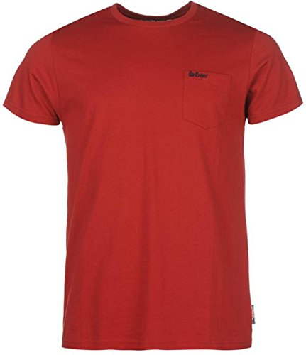 Lee Cooper Herren T-Shirt Vintage Red
