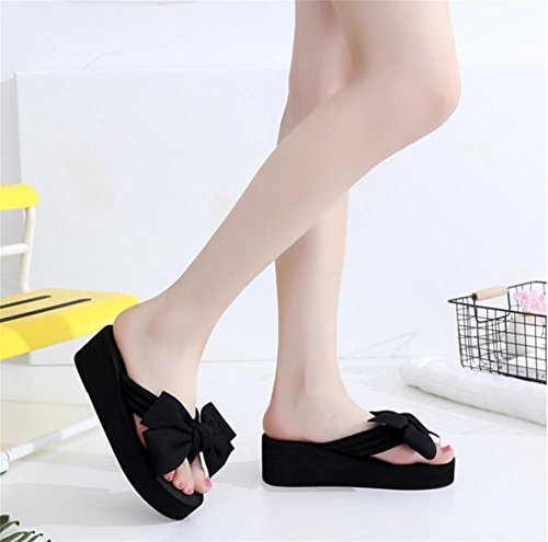 pengweiDamen Sommer Sandalen Hang Ferse Flip Fashion Clip Fu? Strand Hausschuhe 6