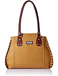 fantosy Women's Handbag (Beige And Maroon,Fnb-214-1)