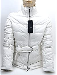 ARMANI JEANS WOMAN WINTER PADDED JACKET NIGHT BLUE OR WHITE MILK CODE 6Y5B07 38 EU - 2 USA BIANCO LATTE - WHITE MILK