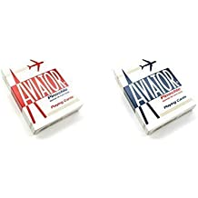 Aviator Pinochle Playing Cards - 1 Sealed Red Deck and 1 Sealed Blue Deck by Aviator