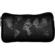 Snoogg Black Earth Poly Canvas Student Pen Pencil Case Coin Purse Utility Pouch Cosmetic Makeup Bag