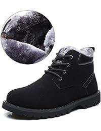 Hombres Zapatos de Nieve Invierno Botines, Gracosy Calentar Botas De Nieve Anti-deslizante Lazada Zapatos Botas de Trabajo Más terciopelo Martin Boots Botines Botas con pieles