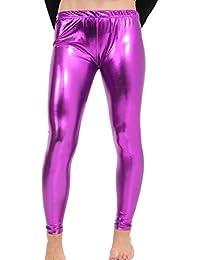 9a585f8affe GW CLASSYOUTFIT®Ladies Women s Girls Disco Metallic Shiny Plus Sizes Pants  Dance School Halloween Party