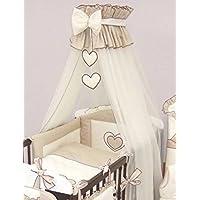 Baby lettino Corona baldacchino/zanzariera 480cm + pavimento supporto–Cuori Beige