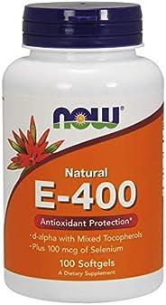 NOW Foods E-400 Mixed Tocopherols & Selenium Softgels 1