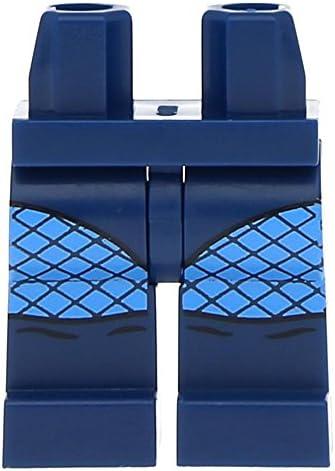 Lego Hips and  Legs   and Medium Blue Knees   Fishnet Dark Blue B079CDNLLS 30a072