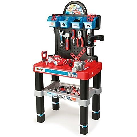 Smoby Cars Ice Bricolo Center - juguetes de rol para niños (DIY, Masculino, Negro, Azul, Rojo)