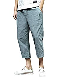 0287f462780fe Rosatro Sport Pant for Men,Fashion Men Summer Jogger Sports Pants Solid  Pure Color Linen