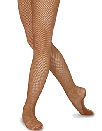 Brown fishnet pantyhose