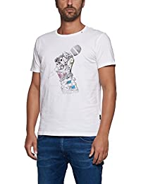 Replay White Microphone Design T-Shirt - M3287-001