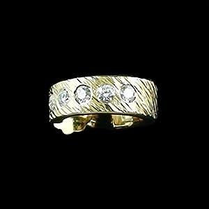 Eine wunderschöne Herren Gelbgold 18 k (750) 3/4 Creole mit spitzen Diamanten zus. 0,25 ct.