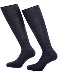 Bruce Field - Chaussettes hautes homme en fil d'Ecosse 100% coton - Modèle 2660