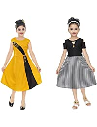 Vastra Fab Girl Gold and Black Combo Dress