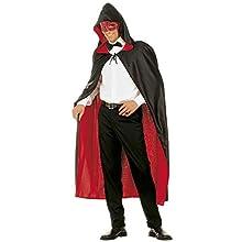 Hooded Cape Reversible - Red/Black Accessory for Superhero Super Hero Fancy Dress