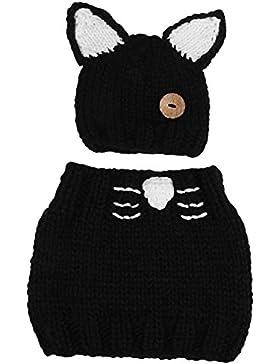 Richoose Little Kitten Ohren Winter Warm coif Kapuze gestrickte Schal Caps Set für Baby Kids Girls Boys