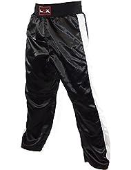 """LNX Kickboxhose """"X-Mesh"""" - Kampfsporthose lang für Damen Herren Kinder XS S M L XL XXL lange kickbox hose schwarz rot blau weiß"""