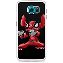 Stitch Deadpool Marvel Parody Novelty Ohana Disney Hard Phone Case Cover Z813 for 2D Samsung S6 White