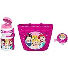 Stamp k887508Set de bidón + timbre + cesta para bicicleta niña, rosa