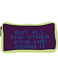 Snoogg Eco Friendly Canvas But All The Other Kids Are Doing It 2916 Student Pen Pencil Case Coin Purse Pouch Cosmetic...