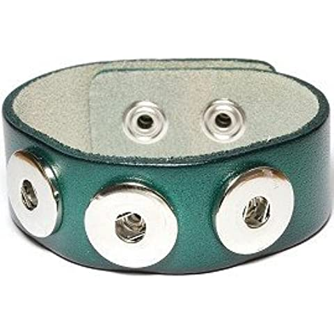 Epyen (TM) Snap Bracelet & Bangles vera pelle braccialetto di alta qualit¨¤ fai da te Snap Buttons Jewelry Tre Snaps