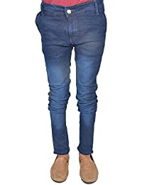 Leo Men's Blue Stretchable Slim Fit Jeans (J23)
