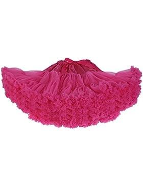 El ballet mullido Pettiskirt de los niños de la falda del tutú de los bebés embroma la falda de la p