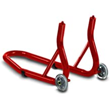Caballete moto delantero ConStands Front Fork rojo para Kawasaki ER-5 Twister, ER-6f, ER-6n, Estrella 250, GPX 600/ 750 R, GPZ 1100, GPZ 500 S, GPZ 600/ 750/ 900 R