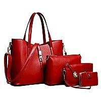 MyTNN set van 4 damestassen shopper schoudertas draagtas schoudertas dames tas (Design 1)