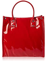 Danielle High Gloss PVC Lunch Tote - Red