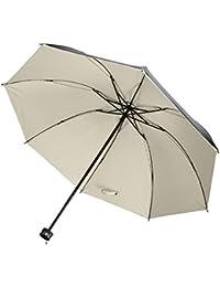 Hivel Negro Anti-UV Paraguas de Plegable Sol/Lluvia Viajar Umbrella para Hombres y