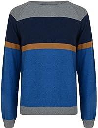 Smith & Jones Velorum Crew Neck Cotton Stripe Jumper Pullover Knit Sweater