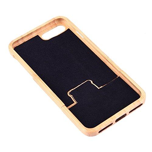 Für iPhone 7 Plus Trennbare Carving Löwenzahn Pattern Carbon Bambus Schützende Rückseite Cover Case Shell by diebelleu ( SKU : Ip7p1447a ) Ip7p1447n
