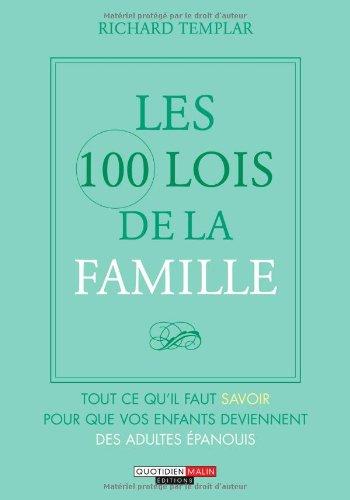 Les 100 Lois de la Famille par Templar Richard