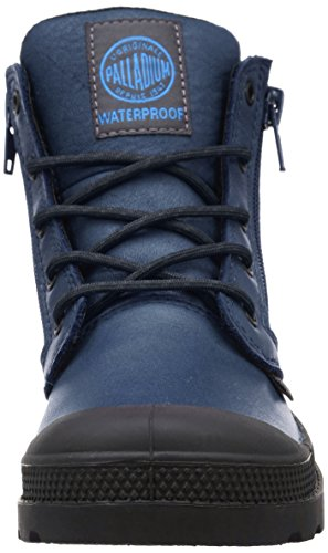 Palladium Hi Cuff Wp K, Baskets Hautes Mixte Enfant Bleu (747 Dark Denim/Black)