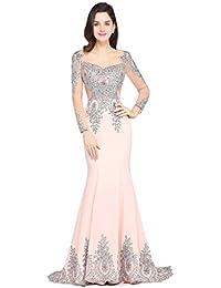 139d82dcb04 Babyonlinedress Sexy Elegant Robe de Soirée Bal Cérémonie Forme Fourreau  Sirène Trompette Longue