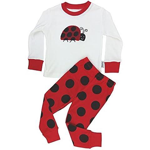 Floorey Pijamas Mariquita Set de 2 Piezas 100% algodón